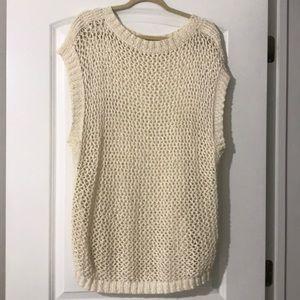 Lafayette 148 crochet sweater top